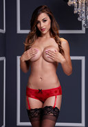 Red Rose Open Crotch Boyshort Panty Md